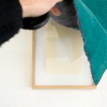 'Eurydice's Mask #2', 2014, paper/tape/frame/felt, 37x43 cm, €650