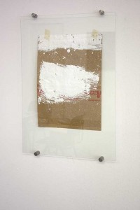 'Remains/Stolen footage (after Qiu Zhijie #3)', 2013, found footage/tape/glass, 34x50 cm (50x70 cm glass), €950