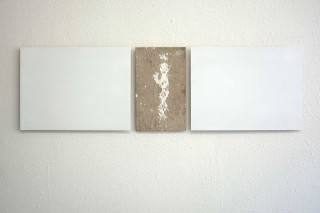 'Out of the whitecube #2', 2014, found footage/painted metal sheets, 30x102 cm, €1250