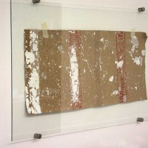 'Remains/Stolen footage (after Qiu Zhijie #1), 2013, found footage/tape/glass, 55x100, €1450