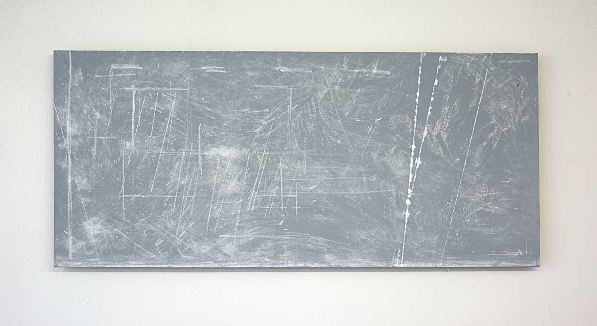 'Searching for the continuum', 2015, chalk/paint/wood, 57x125 cm, €2300