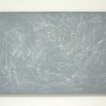 'Swinging in the continuum', 2015, chalk/paint/wood, 57x125 cm, €2300